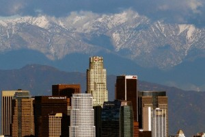 DTLA against the San Gabriel Mountains - WSJ