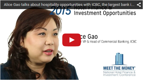 Alice Gao talks about hospitality opportunities with ICBC, the largest bank in the world